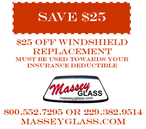 Save $25 on windshield replacement in Tifton